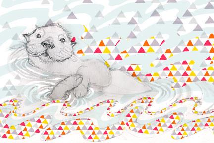 Otter Print for Ripple