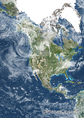 North America - Satellite image - PlanetObserver