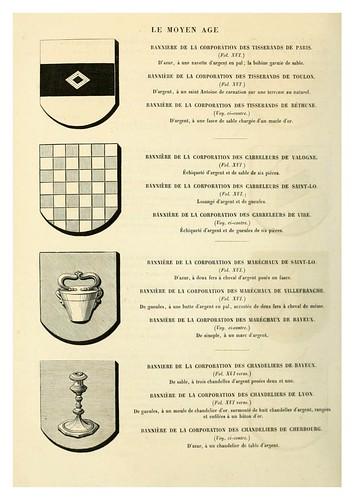 014-Banderas de corporaciones artesanales -Le moyen äge et la renaissance…Vol III-1848- Paul Lacroix y Ferdinand Séré