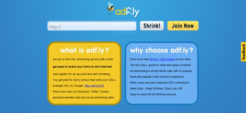 adf.ly - The URL shortening service that pays you