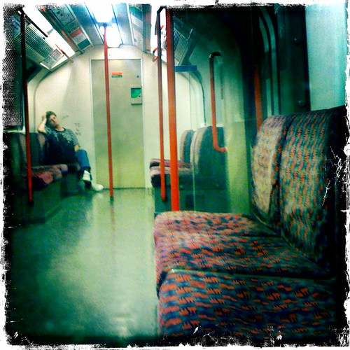 All alone on the tube.