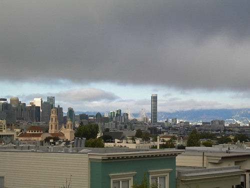 san francisco skyline as seen from home