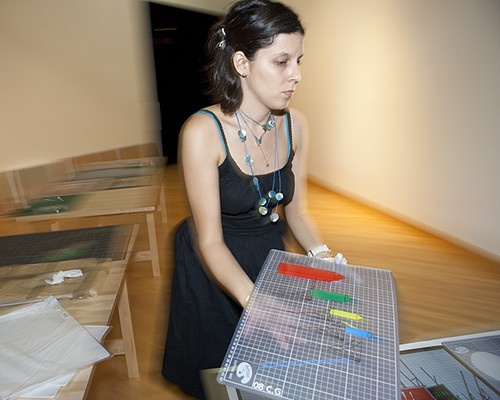 Carlos Garaicoa art work unpacked at USF Contemporary Art Museum