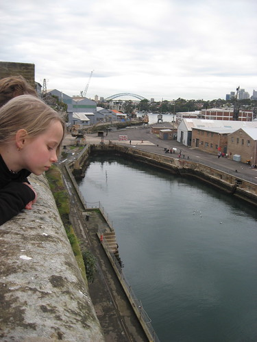 Looking down at Sutherland Dock