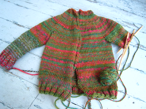baby sweater in progress
