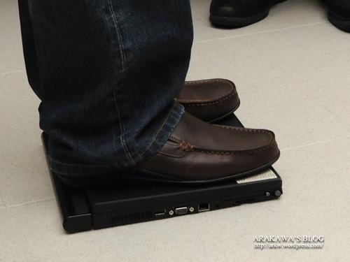 ThinkPadを踏む