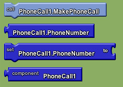 Google app inventor - phone call blocks