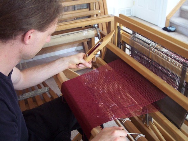 The Woodworm is weaving / sample weaving