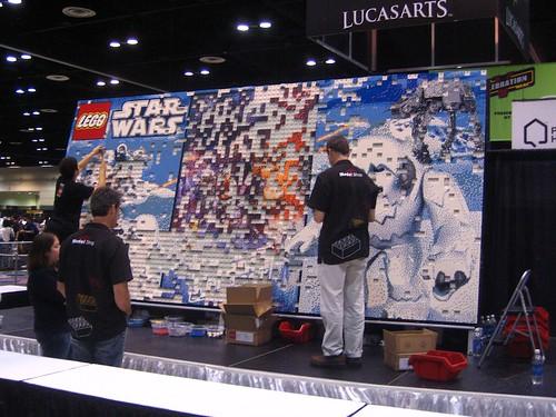 LEGO Star Wars mural getting closet o completion