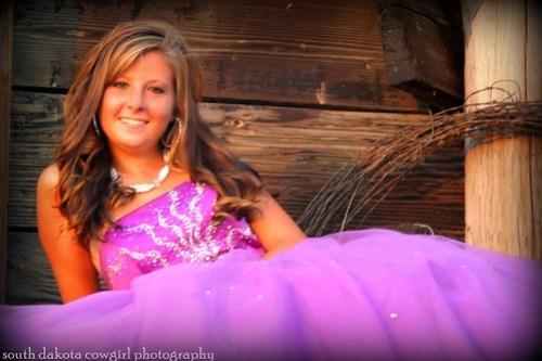 vingette purple dress