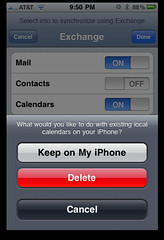 iPhone: Keep local contacts