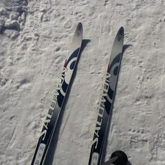 今日は歩くスキー@川下公園