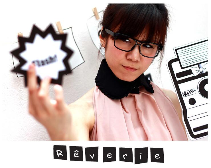 Rêverie-black collar (pleated top2)