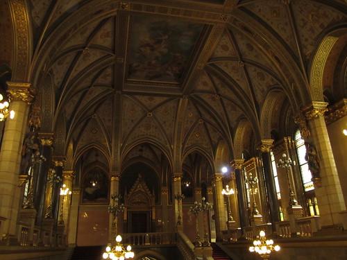 Parliament entry hallway