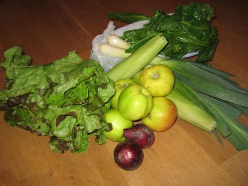 Amelishof CSA vegetables week 37, 2010