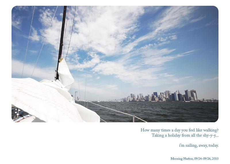 i'm sailing, away, today