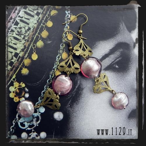 LIVIBR orecchini bronzo viola purple bronze earrings