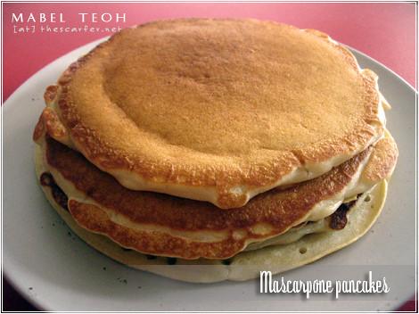 Mascarpone pancakes