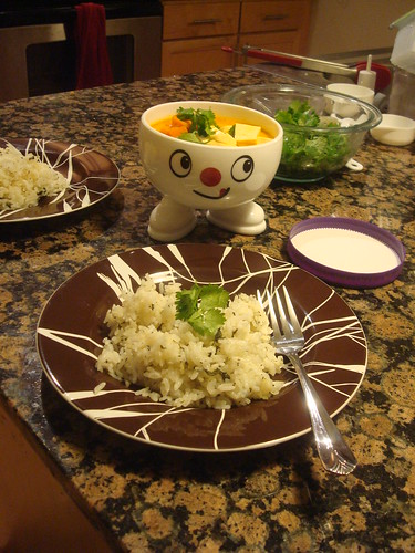Grace - Thai soup with herb rice