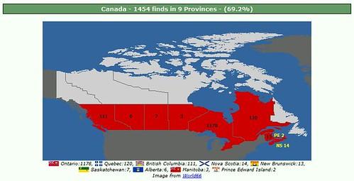 canada cache map