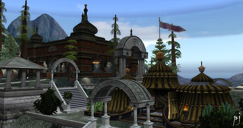 Sultan's Tent and Luxury Store in Mythopoeia, photo by PJ Trenton