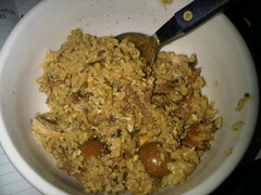 Adobo fried brown rice