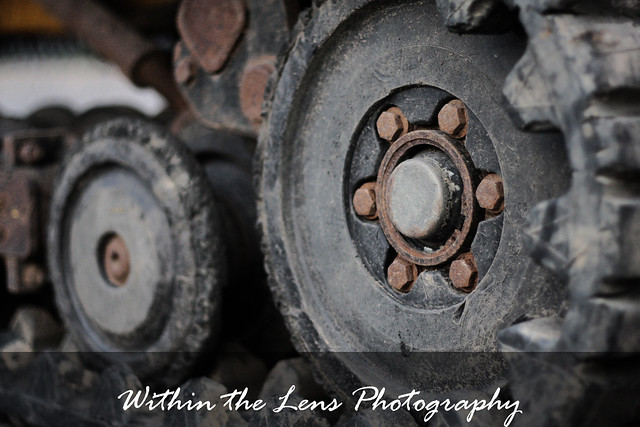 machinery, wheels, construction, photography, within the lens