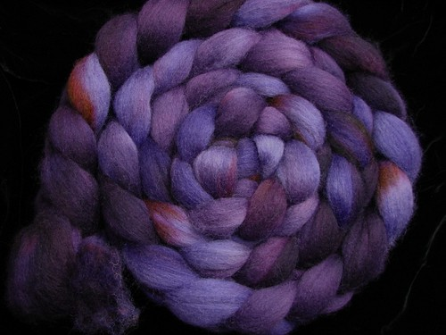 Grape Stomp - Hand Dyed Spinning Fiber Corriedale Wool Roving