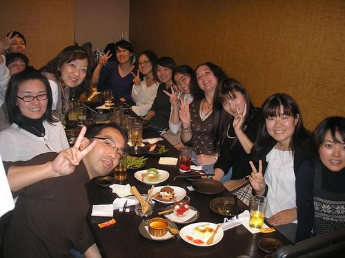 Nobuki, Yoko, Kazue, Rie, Keichi, Yoko, Makiko, Anna, Shiori, me, Mayu, Yukie and Leah
