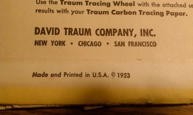 Tracing Paper 1953