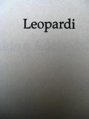 Pietro Citati, Leopardi, Mondadori 2010; art dir.:Giacomo Callo, graph. designer:Cristina Brazzoni; frontespizio (part.), 2