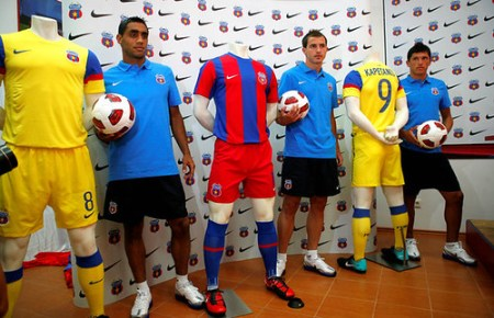 FC Steaua Bucharest Nike 2010/11 Home and Away Jerseys
