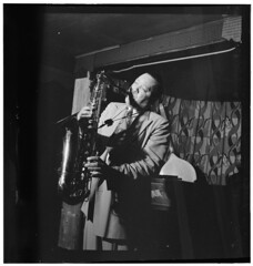 [Portrait of Lester Young, Famous Door, New Yo...