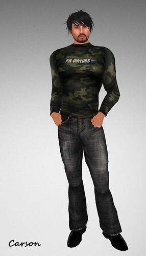 FK VIRTUES - Male - 23 Gray Jeans Sub-0FK VIRTUES - Camo Ribbed Long Sleeve  - Men  Gift