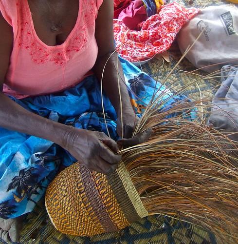 Pandanus weaving