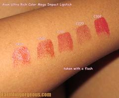UCR Mega Impact Lipstick Swatch with flash