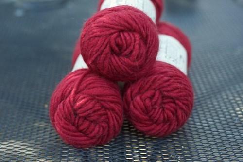 Lamb's Pride Bulky in Raspberry