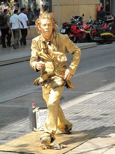 living statue, Barcelona