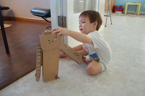 Derek made a robot