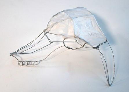 Wireframe sheeps skull