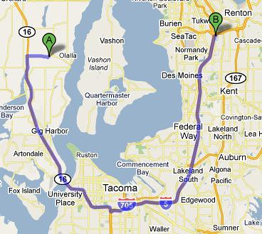 OLALLA TO SC MALL - 41.9 MI