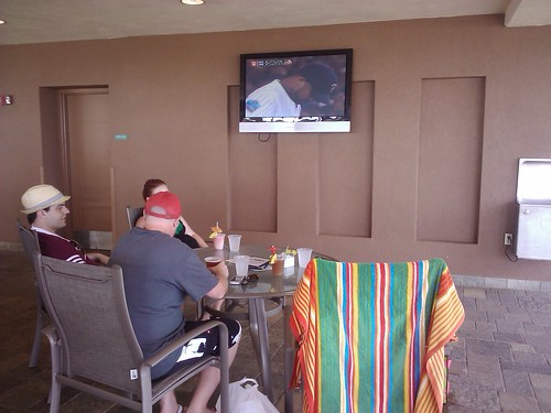 how we're watching the twins game...
