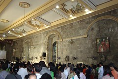 A mass was being held that Sunday morning when we arrived (6:00 AM).