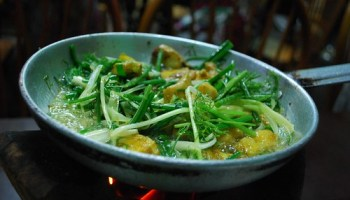 Fish and dill for 2 - Cha Ca La Vong VND120000...