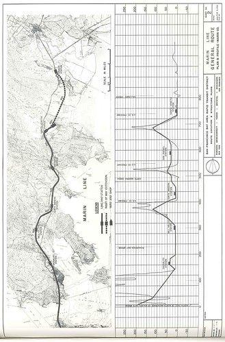 San Francisco Bay Area Rapid Transit District Route Location & Structure Plans: Marin Line General Route Plan & Profile (1961)