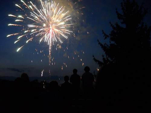 Fireworks at the final campfire of Camp Fantastic 2010