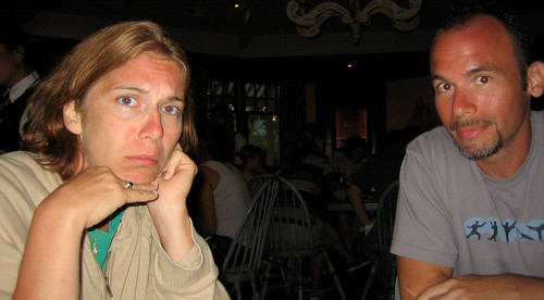 20100803 1947 - Cape Cod - Tavern - Vicky, Ryan - old sad lady face - IMG_1800