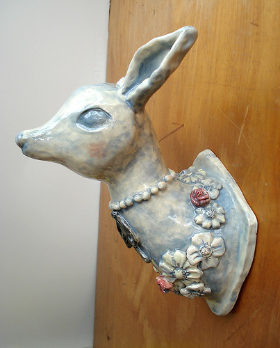 ceramic deer head
