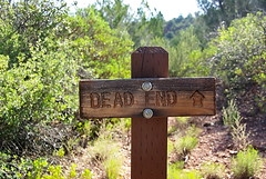 """Dead End"" trail Sign ??? or ""D..."