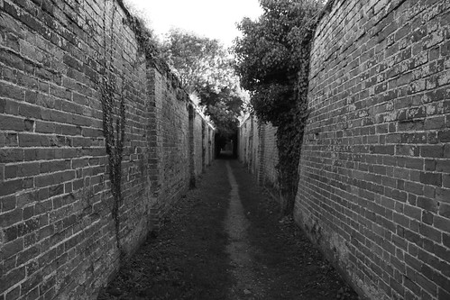 Darkened alleyway